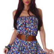 Letní šaty na pláž Krátké šaty s opaskem e334da659b
