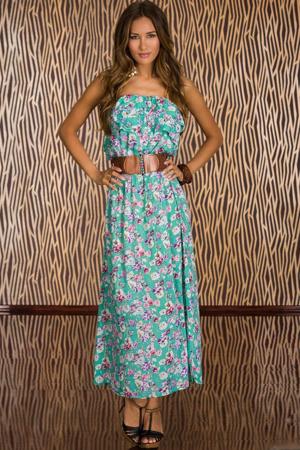 014550144e1 Dlouhé letní šaty s opaskem